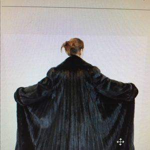 Jackets & Blazers - Female Russian black full length mink swing coat